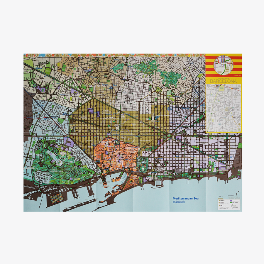 Barcelona Railway City Map