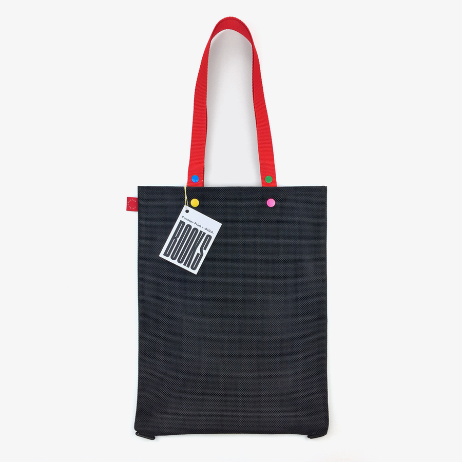 Counter-Print Book Bag (Black)