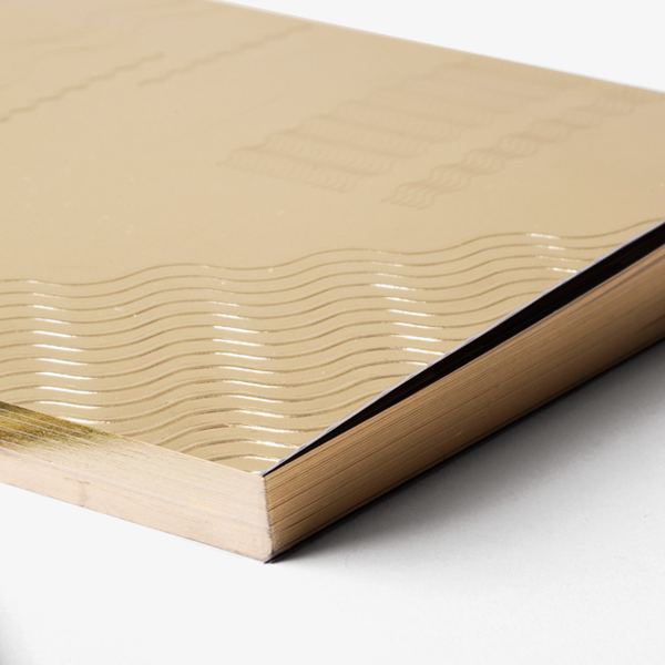 Super Gold Onde A5 Notebook