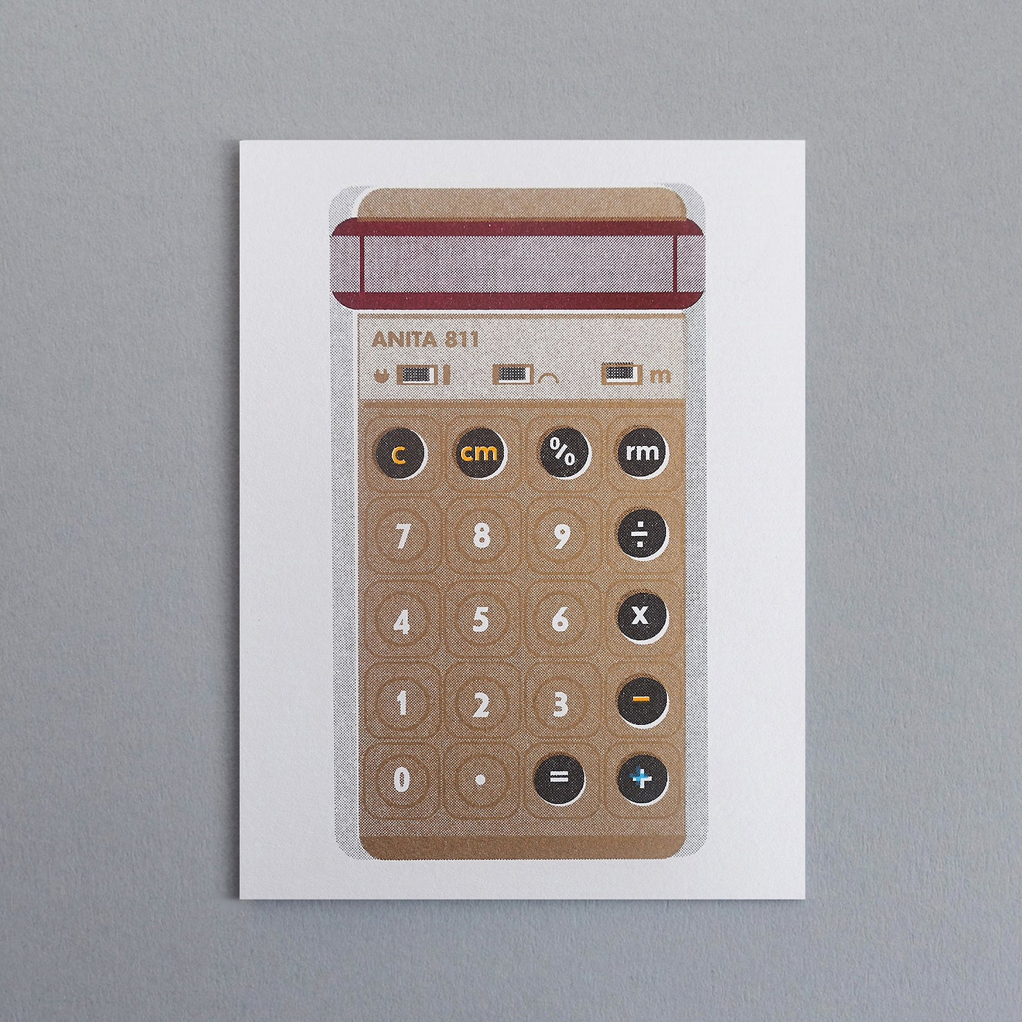 Gold Pocket Calculator Card