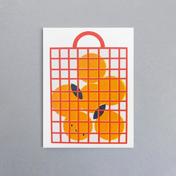 Orange Bag Card