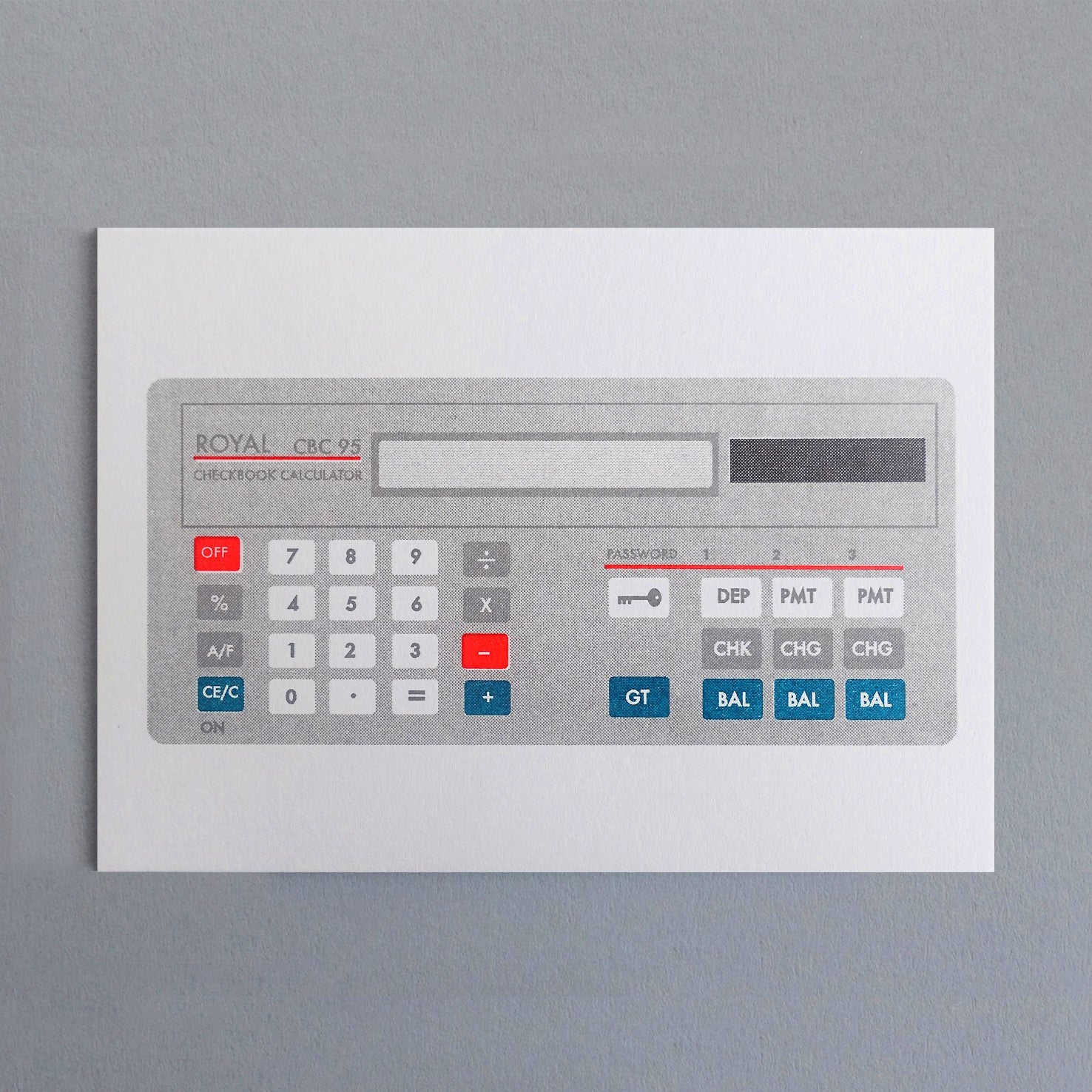 Grey Pocket Calculator Card