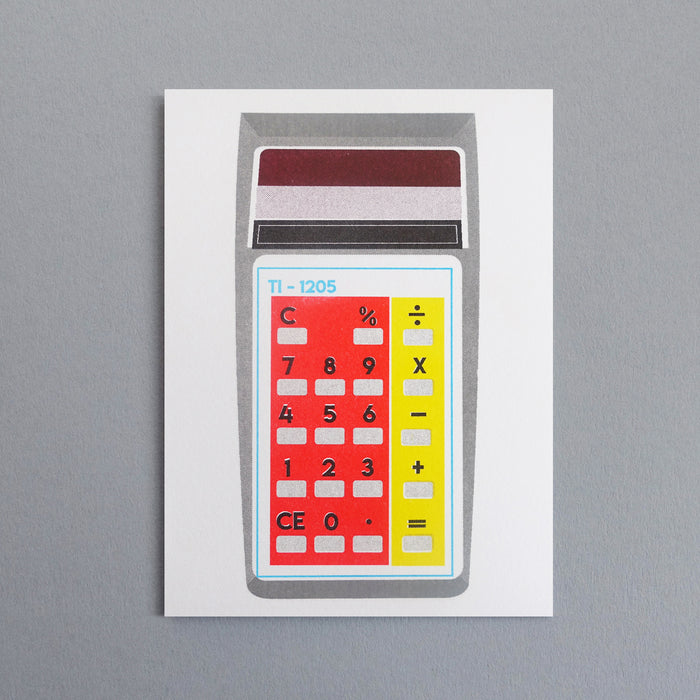 Red/Yellow Pocket Calculator Card