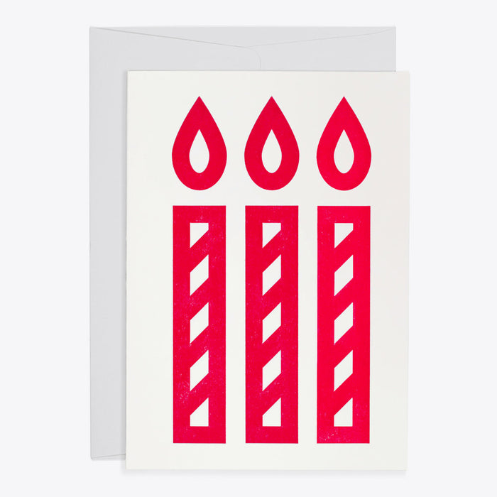 Three Candles Card