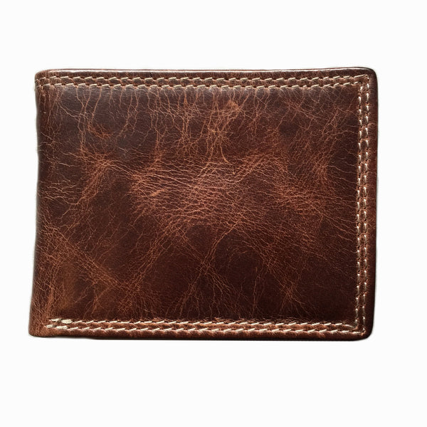 073 Mens slimline bifold wallet Manhattan Brown