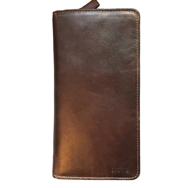 AW-097-Travel Wallet-zip around, manhattan, brown