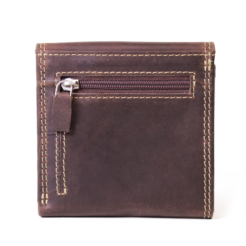 119 Trifold Mens Wallet Camel Brown