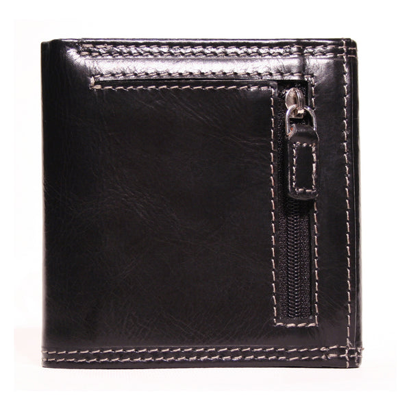 AW-119A Trifold Mens Wallet in Manhattan Leather