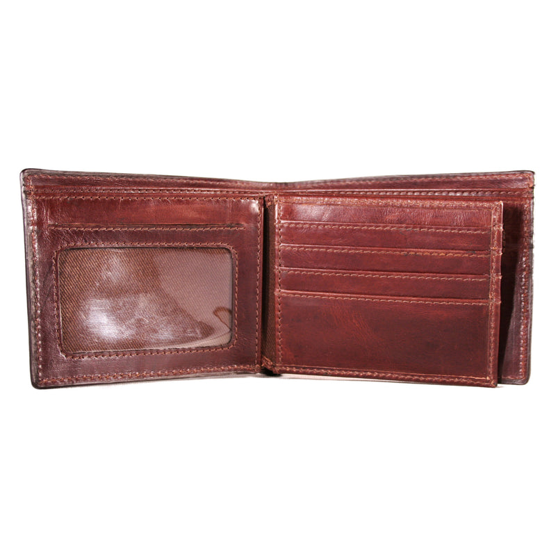 AW-134-Bifold Mens Wallet in Manhattan Leather