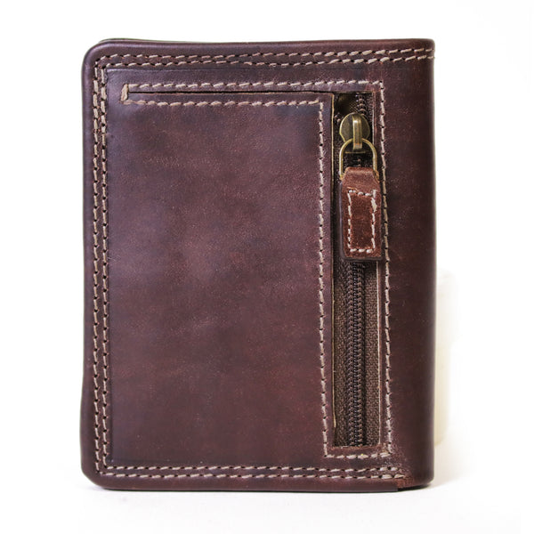 AW-141 compact mens wallet brown