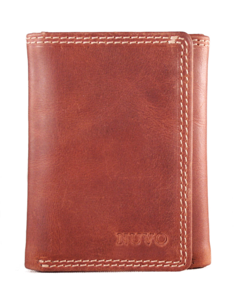 AW-148 men's leather trifold wallet in Manhattan Leather