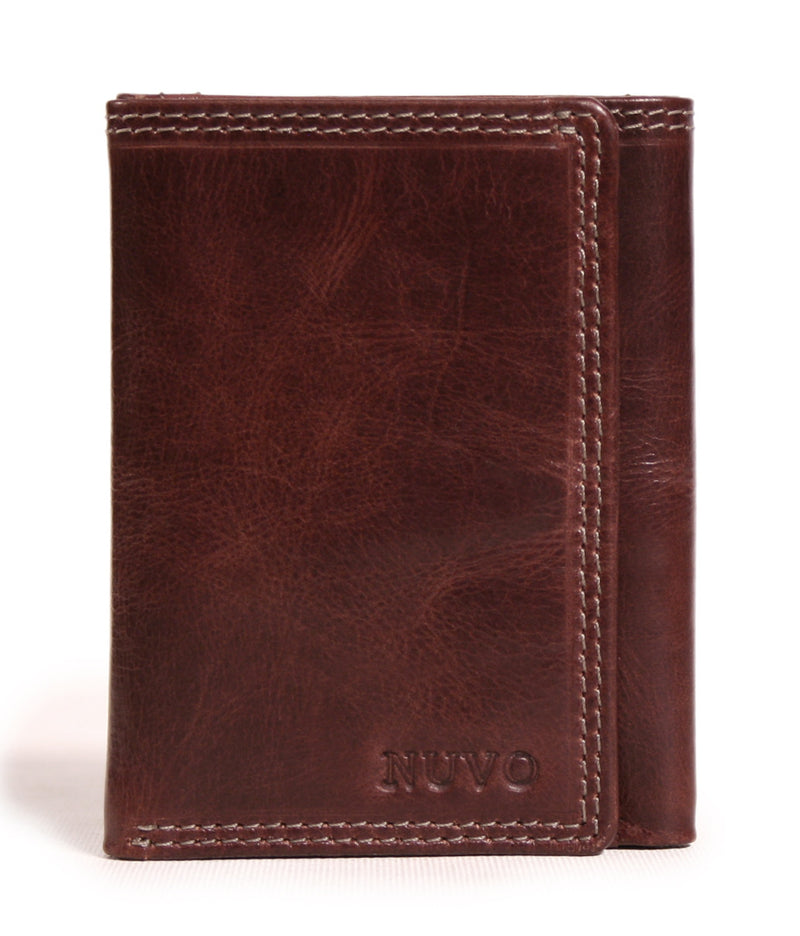 AW-148 men's leather trifold wallet