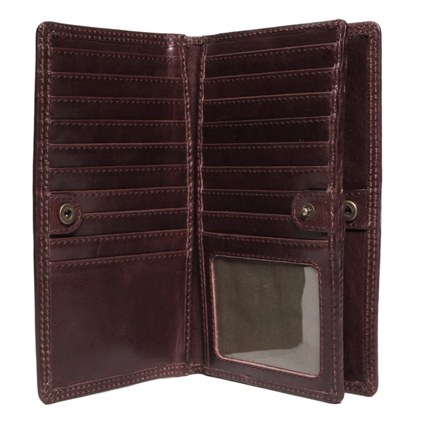 AW154 Slimline Wallet in Manhattan brown