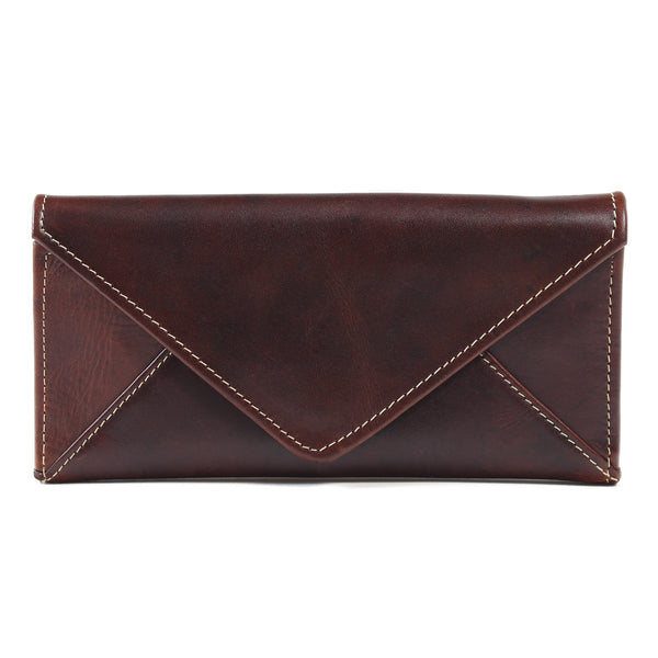 AW155 Envelope Purse Burnish Dark Cognac