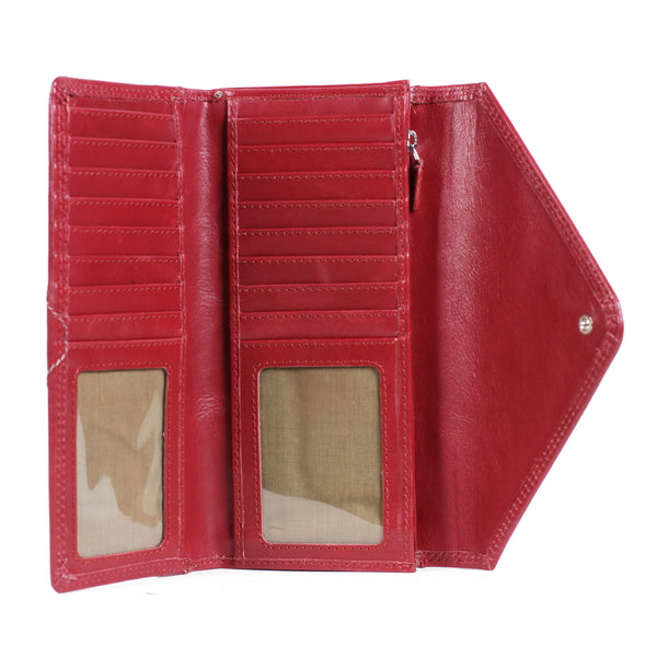 AW155 Envelope Purse Burnish Red