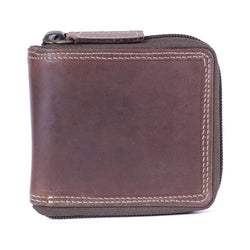 156 Zip around wallet camel brown