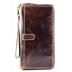 nouveau Leather travel wallet AW-160 manhattan brown