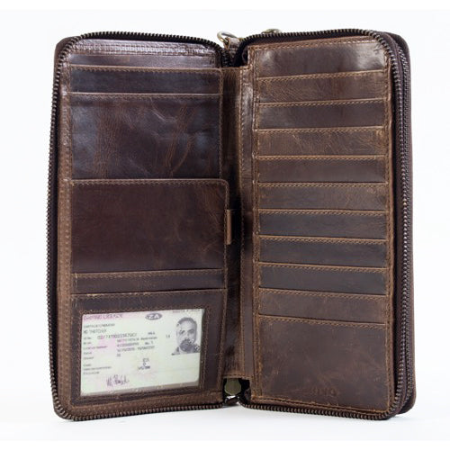 AW-160-Double-zip travel wallet