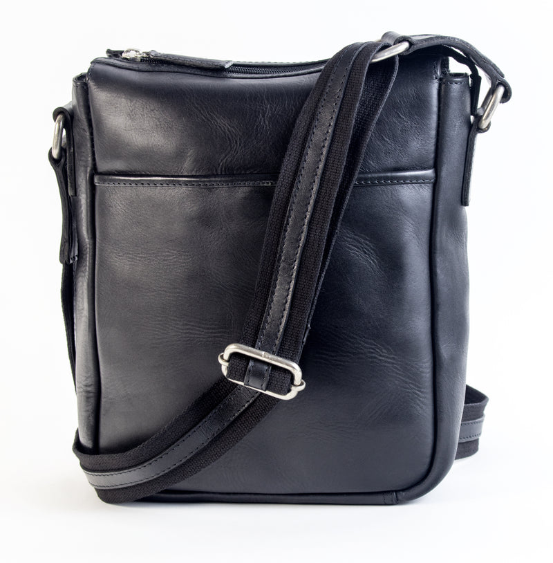 Adam - unisex leather tablet sling bag