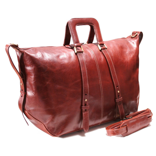 Amazon Holdall travel bag burnish Dark Cognac