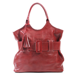 Belted Bag vacheta red