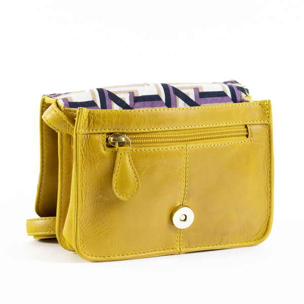 Big Bess crossbody sling bag vacheta yellow