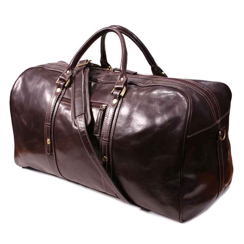 Nouveau Leather Beverley holdall travel overnight bag