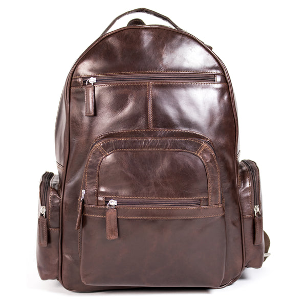 Clinton Laptop Backpack Burnish Brown