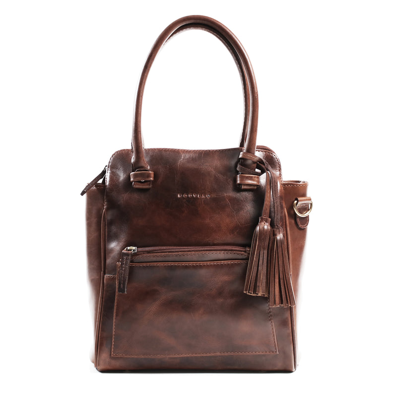 Dijon shoulder bag burnish dark cognac