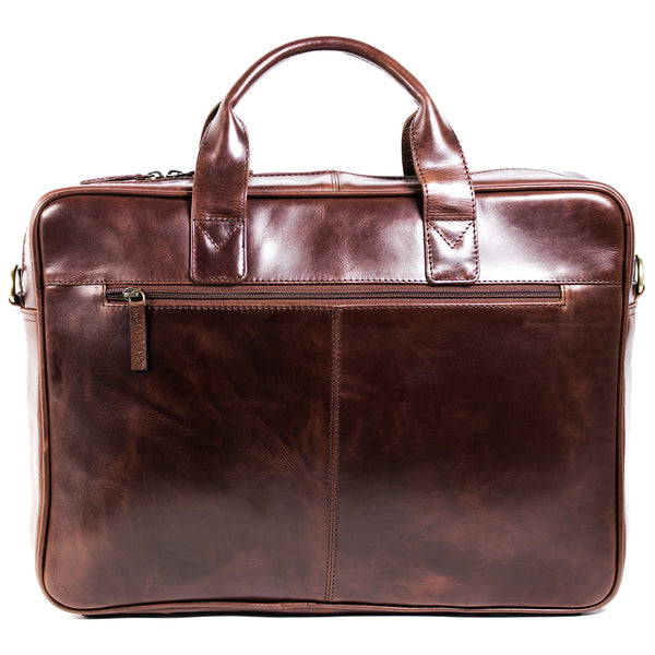 Ivan 17 inch Laptop bag burnish brown