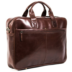 Ivan 17 inch Laptop bag burnish brown *showroom sample