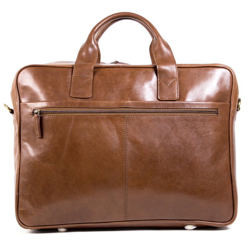 "Ivan - 17"" Leather Laptop bag"