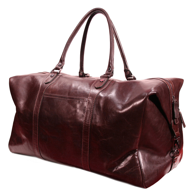 Nouveau Plymouth holdall travel bag leather
