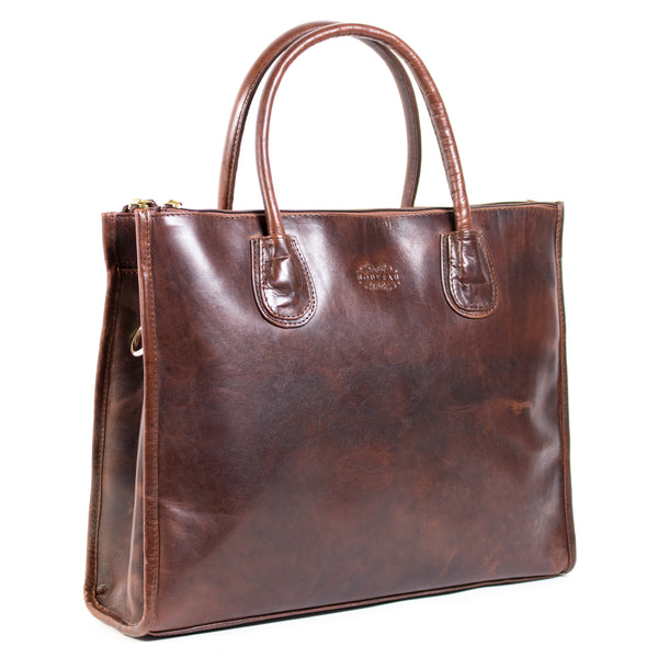 Scarlet 15 inch Laptop Handbag Burnish Dark Cognac