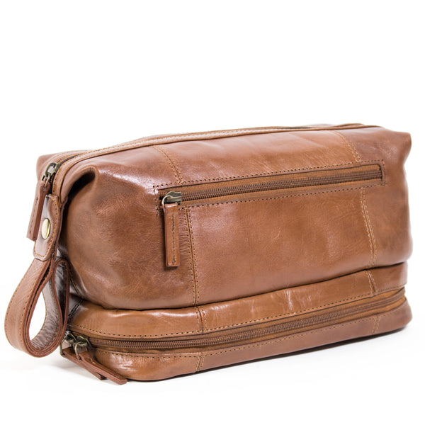 Nouveau wetpack leather wash bag wet-002