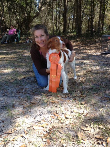 Tristan 1st qualifying leg! AKC Hunt Test