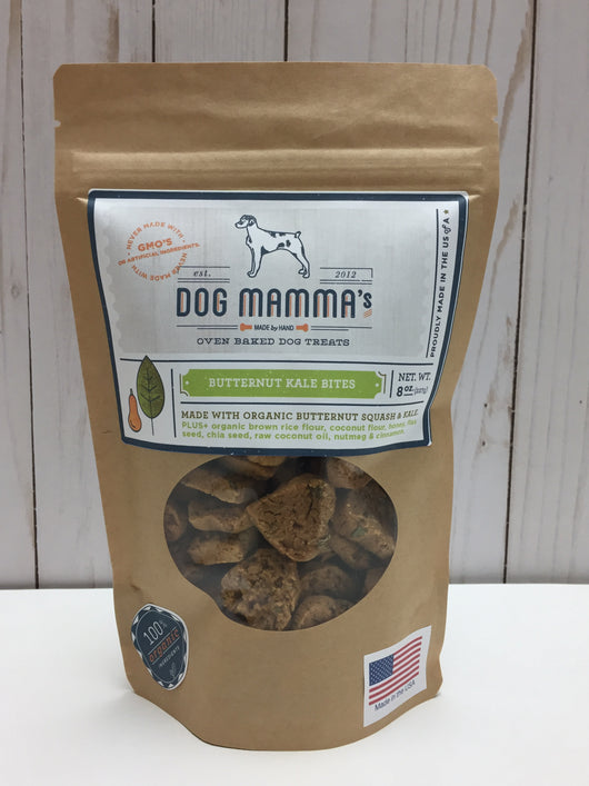 Butternut Kale Bites Organic Dog Treats 8 oz