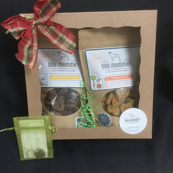 Double Dog Mamma's Treats and Collar Charm Gift Box