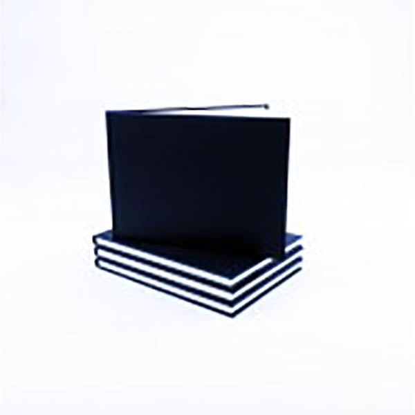 Seawhite Black Cloth Casebound A5 Landscape Cartridge Pad - 46sheets