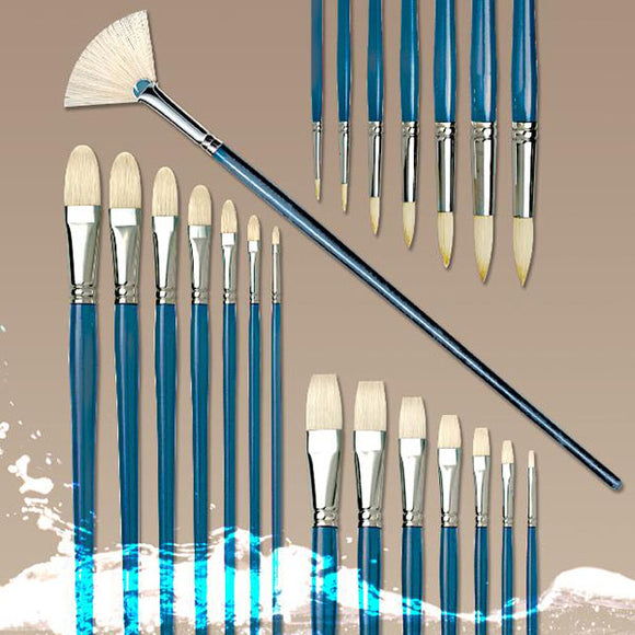Pro Arte Series C Studio Hog Long Flat Brushes - Various Sizes - Spectrum Art Shop Birmingham