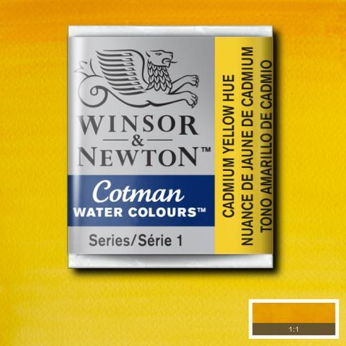 Winsor & Newton Cotman Watercolour Half Pan - Cadmium Yellow Hue - Spectrum Art Shop Birmingham