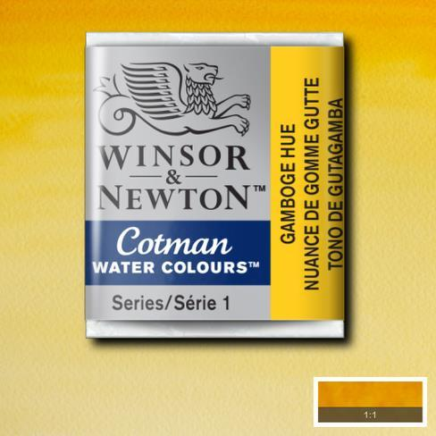 Winsor & Newton Cotman Watercolour Half Pan - Gamboge Hue - Spectrum Art Shop Birmingham