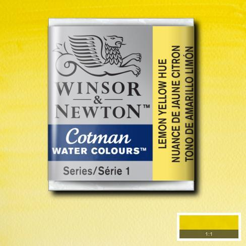 Winsor & Newton Cotman Watercolour Half Pan - Lemon Yellow Hue - Spectrum Art Shop Birmingham