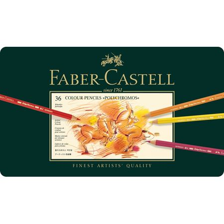 Faber-Castell Polychromos Pencils - Tin of 36 Colours - Spectrum Art Shop Birmingham