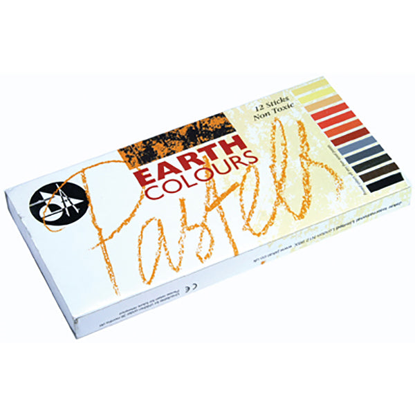 Jakar Soft Pastels Set of 12 - Earth Colours