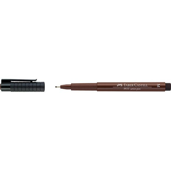 Faber-Castell PITT Artist Pen Medium, Sepia (175) - Spectrum Art Shop Birmingham