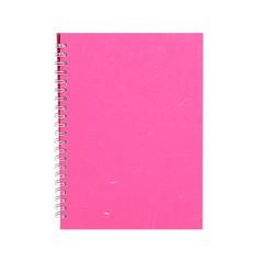 "Pink Pig ""Posh Pig"" Spiral Bound A4 Portrait Cartridge Pad - Bright Pink/35sheets"