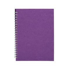 "Pink Pig ""Posh Pig"" Spiral Bound A4 Portrait Cartridge Pad - Purple/35sheets"