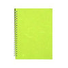 "Pink Pig ""Posh Pig"" Spiral Bound A4 Portrait Cartridge Pad - Lime Green/35sheets - Spectrum Art Shop Birmingham"