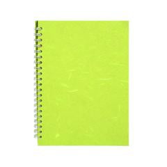 "Pink Pig ""Posh Pig"" Spiral Bound A4 Portrait Cartridge Pad - Lime Green/35sheets"